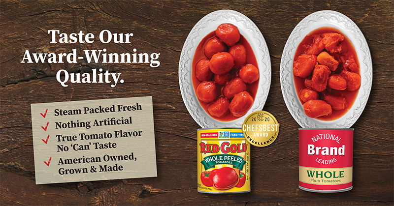 Red Gold Quality comparison with Chefs Best Award for Best Tasting Tomatoes