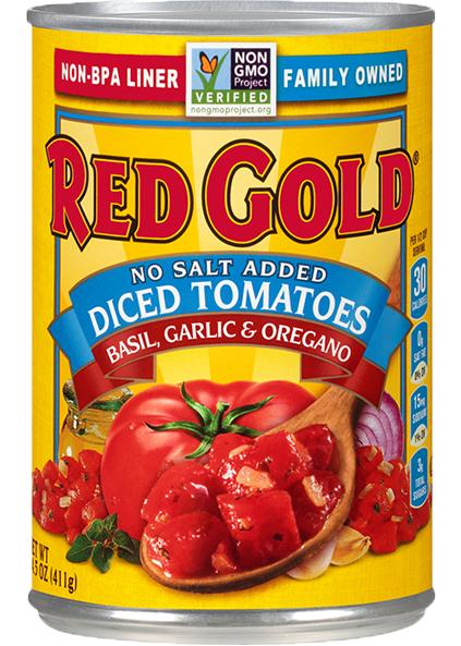 Image of No Salt Added Diced Tomatoes Basil, Garlic & Oregano 14.5 oz