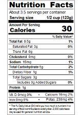 REDBF1B_RedGold_DicedNoSaltAddedBasilGarlicandOregano_14.5oz_Nutrition