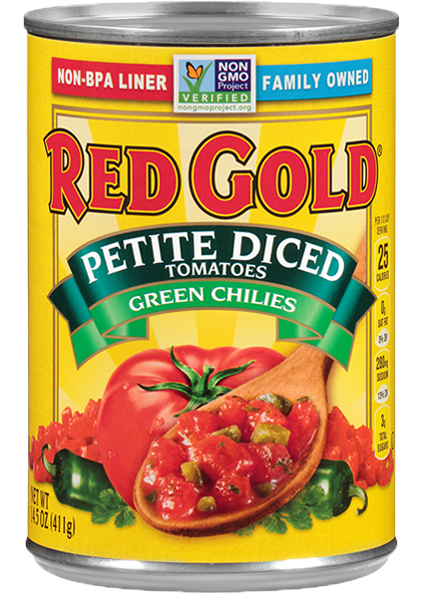 Image of Petite Diced Tomatoes with Green Chilies 14.5 oz