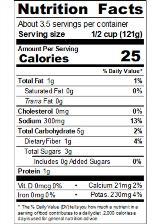 REDBR1V_RedGold_PetiteDicedGarlicandOliveOil_14.5oz_Nutrition