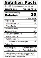 REDBV14_RedGold_DicedRoastedwithGarlicandOnion_14.5oz_Nutrition