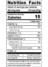 REDHA08_RedGold_TomatoSauce_8oz_Nutrition