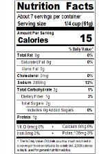REDHA15_RedGold_TomatoSauce_15oz_Nutrition