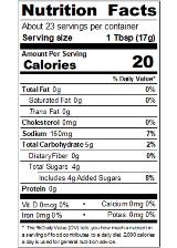 REDYA1R_RedGold_TomatoKetchup_FOH_14oz_Nutrition