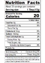 REDYA2RCOLT_RedGold_ColtsKetchup_20oz_Nutrition