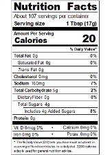 REDYA64_RedGold_TomatoKetchup_FOH_64oz_Nutrition
