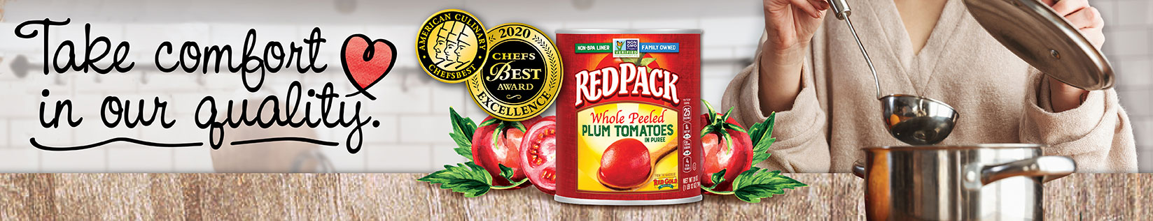 Image of Redpack Tomatoes with steel soup pot