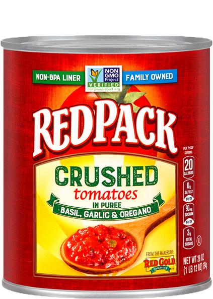 Image of Crushed Tomatoes Basil, Garlic & Oregano 28 oz