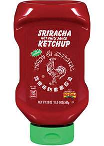 Front image of Red Gold Sriracha Ketchup Bottle