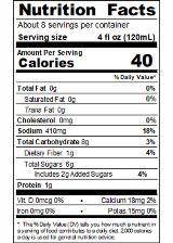 HUYZE32_SrirachaBloodyMaryMix_Nutrition